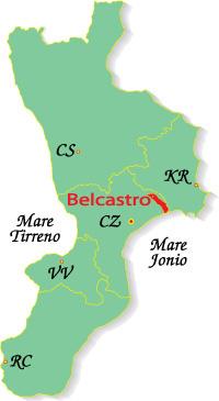 Cartina Calabria-Belcastro