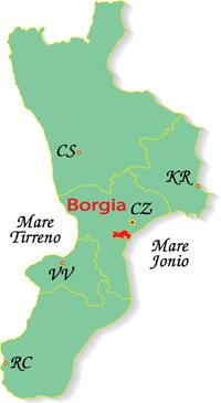 Cartina Calabria Borgia