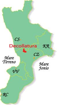 Cartina Calabria-Decollatura