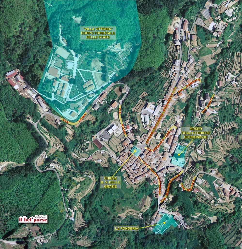 Mappa Centro Storico Mongiana