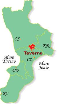 Cartina Calabria-Taverna