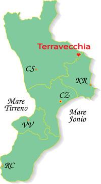 Cartina Calabria-Terravecchia